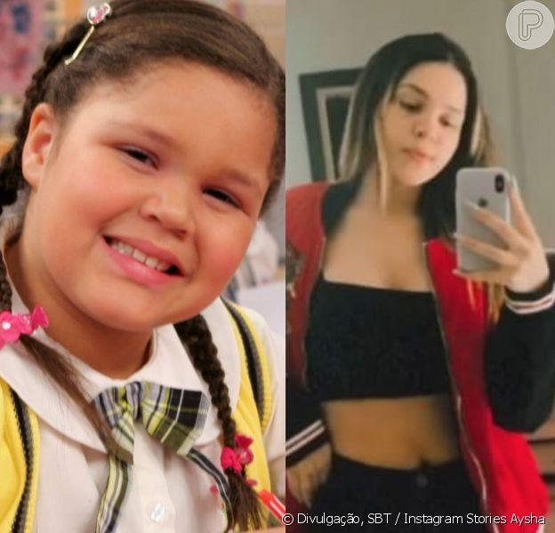 Filha de Simony, Aysha compartilhou com seus seguidores um antes e depois