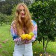 Marina Ruy Barbosa compartilhou em sua rede social fotos na fazenda de Guilheme Mussi