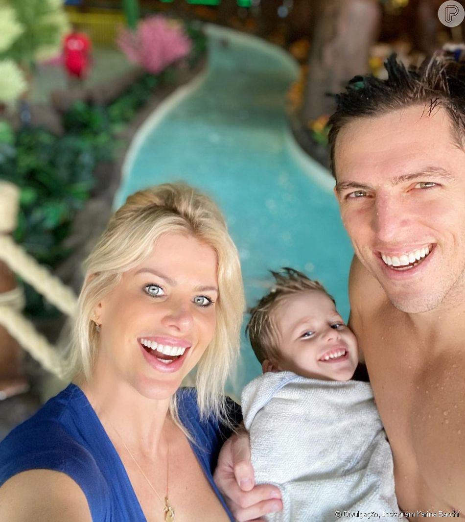 Filho de Karina Bacchi e Amaury Nunes, Enrico tem 3 anos