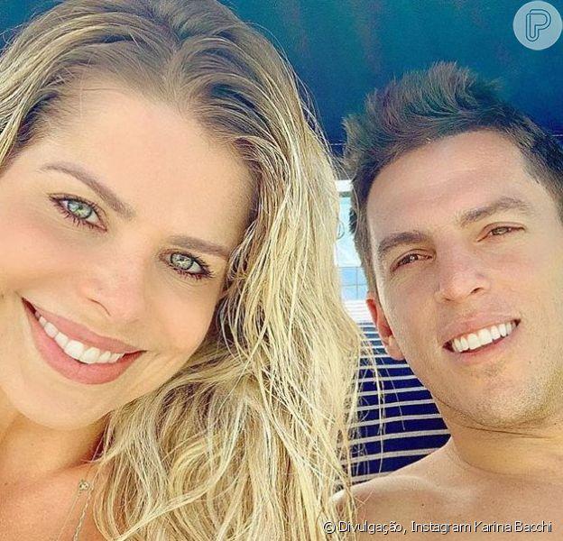 Karina Bacchi falou pela primeira vez sobre a suposta separação de Amaury Nunes