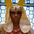 Novela 'Gênesis': faraó (André Ramiro) causa repulsa nos convidados com seu rosto cheio de manchas