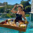 Suzanna Freitas está curtindo o fim de semana em Paraty