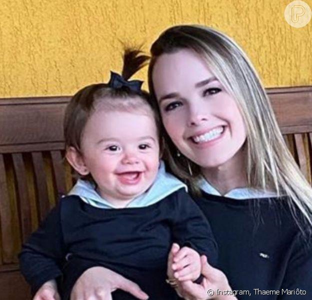 Thaeme Mariôto apontou mudança na filha, Liz, 2 anos: 'Fica choramingando! Igual fazia na época no peito'