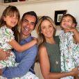 Cesar Tralli é casado com Ticiane Pinheiro, pai de Manuella e padrasto de Rafaella: 'M e alegra a alma para semana inteira'