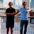 Filho de Faustão, João Guilherme Silva está curtindo férias com amigos em Dubai, nos Emirados Árabes