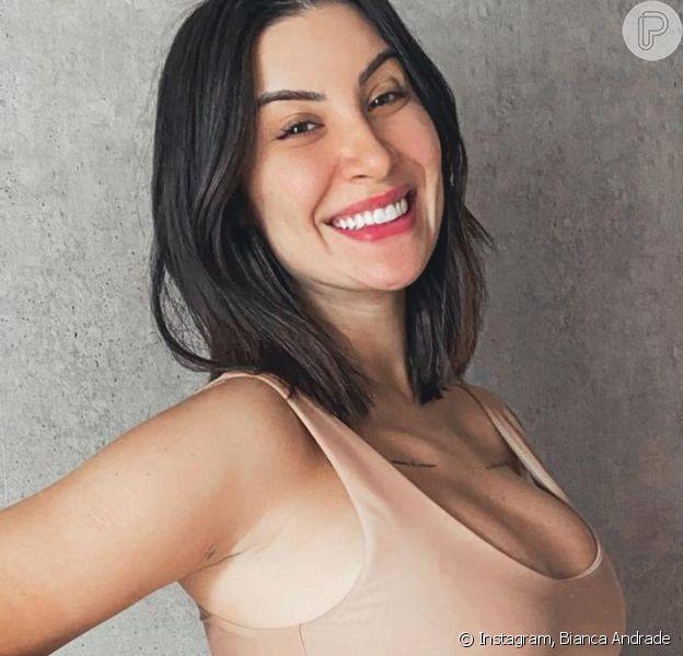 Grávida de 6 meses, Bianca Andrade exibe ultrassom e web aponta semelhança: 'Cara do papai'