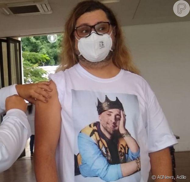 Amigo de Paulo Gustavo, Marcus Majella foi vacinado contra a Covid-19