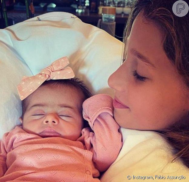 Fabio Assunção mostra rosto da filha caçula, Alana Ayó, em 22 de maio de 2021
