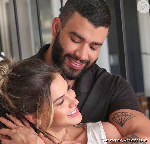 Andressa Suita e Gusttavo Lima dormiram juntos
