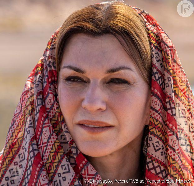 Novela 'Gênesis': Deus manda praga para a cidade de Gerar para proteger Sara (Adriana Garambone)