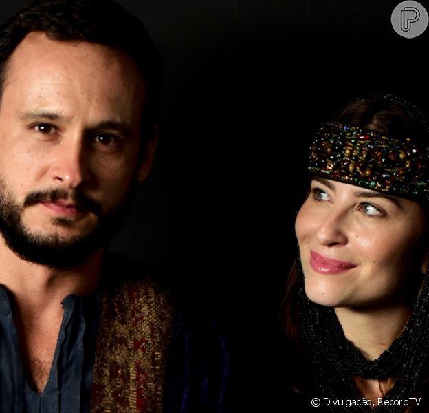 Novela 'Gênesis': Isaque (Guilherme Dellorto) se casa com Rebeca (Bárbara França) sem ver o rosto da jovem
