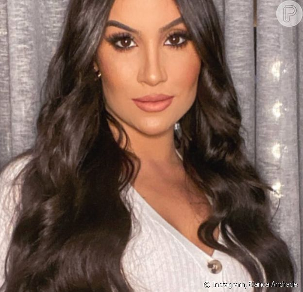Bianca Andrade evidencia barriga em look aos 8 meses de gravidez e famosas tietam: 'Linda'