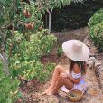O jardim da casa de Giovanna Ewbank é repleto de árvores frutíferas