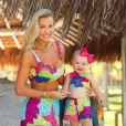 Filha de Ana Paula Siebert e Roberto Justus, Vicky combina looks com a mãe
