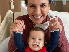Malvino Salvador e Kyra Gracie postam foto com filho de seis meses internado: 'Está melhorando'
