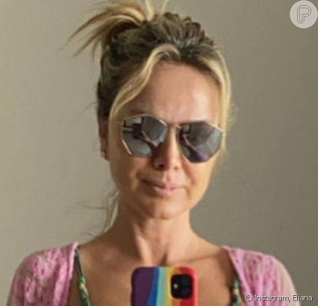 Eliana exibe barriga sarada aos 47 anos em foto na web, em 11 de julho de 2021
