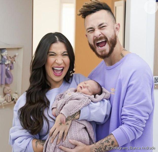 Bianca Andrade nota traços de Fred no filho recém-nascido e famosos elogiam: 'Gostosura'
