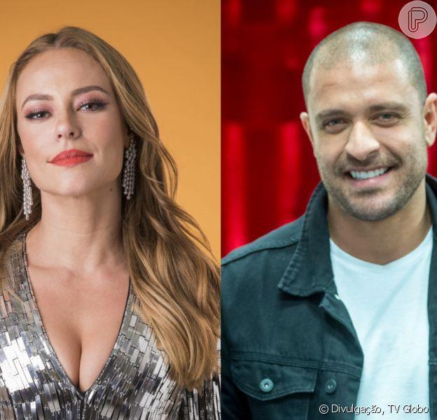 Paolla Oliveira e Diogo Nogueira posam juntos em restaurante após assumirem namoro, em 24 de julho de 2021