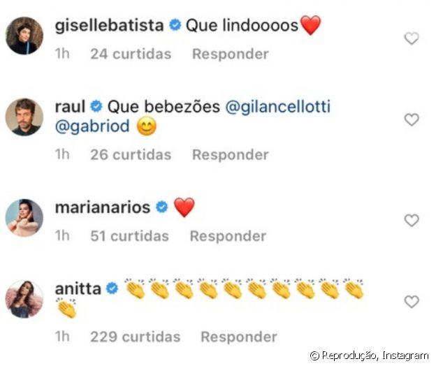 Anitta deixou comentário em post de Giovanna Lancellotti
