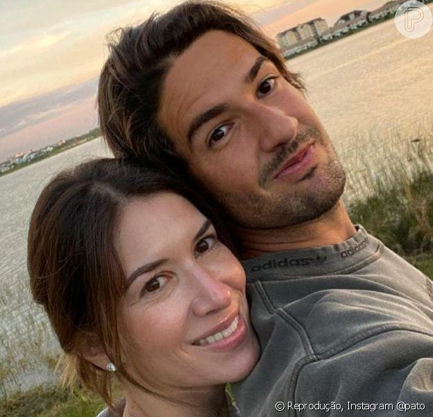 Alexandre Pato e Rebeca Abravanel completaram 2 anos de casados