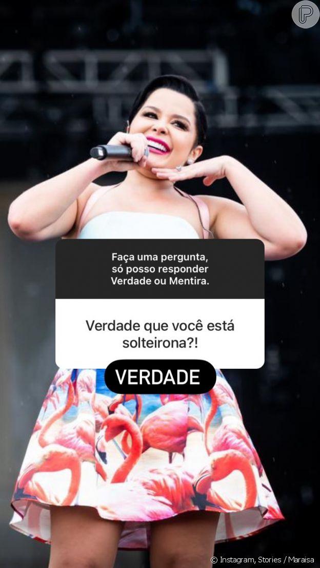 Maraísa afirma que está 'solteirona'