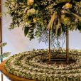 Casamento de Viviane Araújo teve mesa de bem-casados em tons de verde e branco