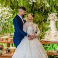 Romantismo foi uma marca do casamento de Viviane Araújo e Guilherme Militão