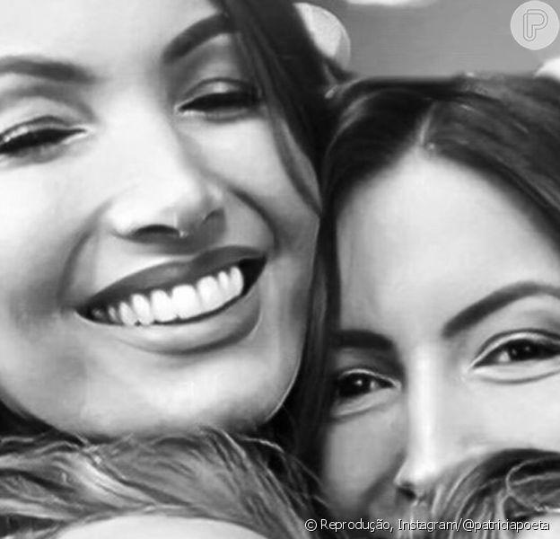Patrícia Poeta agradeceu à irmã Paloma Poeta por ajuda e apoio durante internação após cirurgia de emergência
