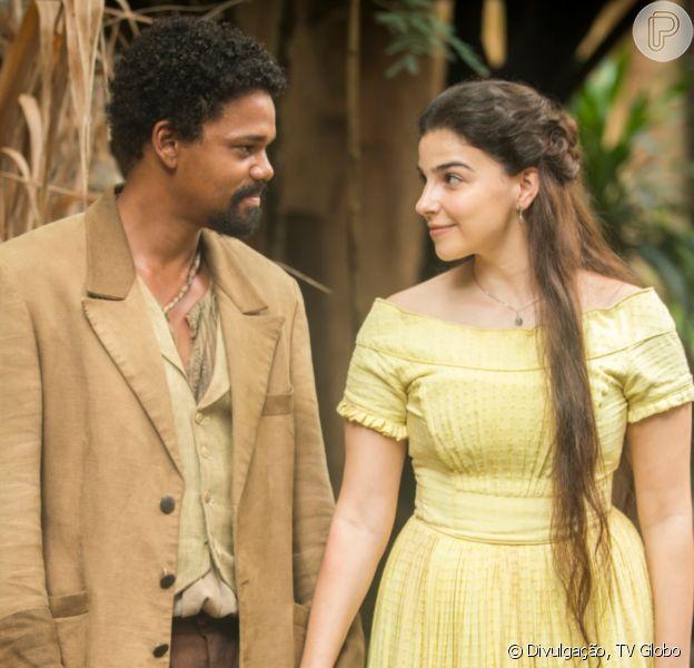 'Nos Tempos do Imperador': Pilar (Gabriela Medvedovski) rompe noivado com Jorge/Samuel (Michel Gomes)