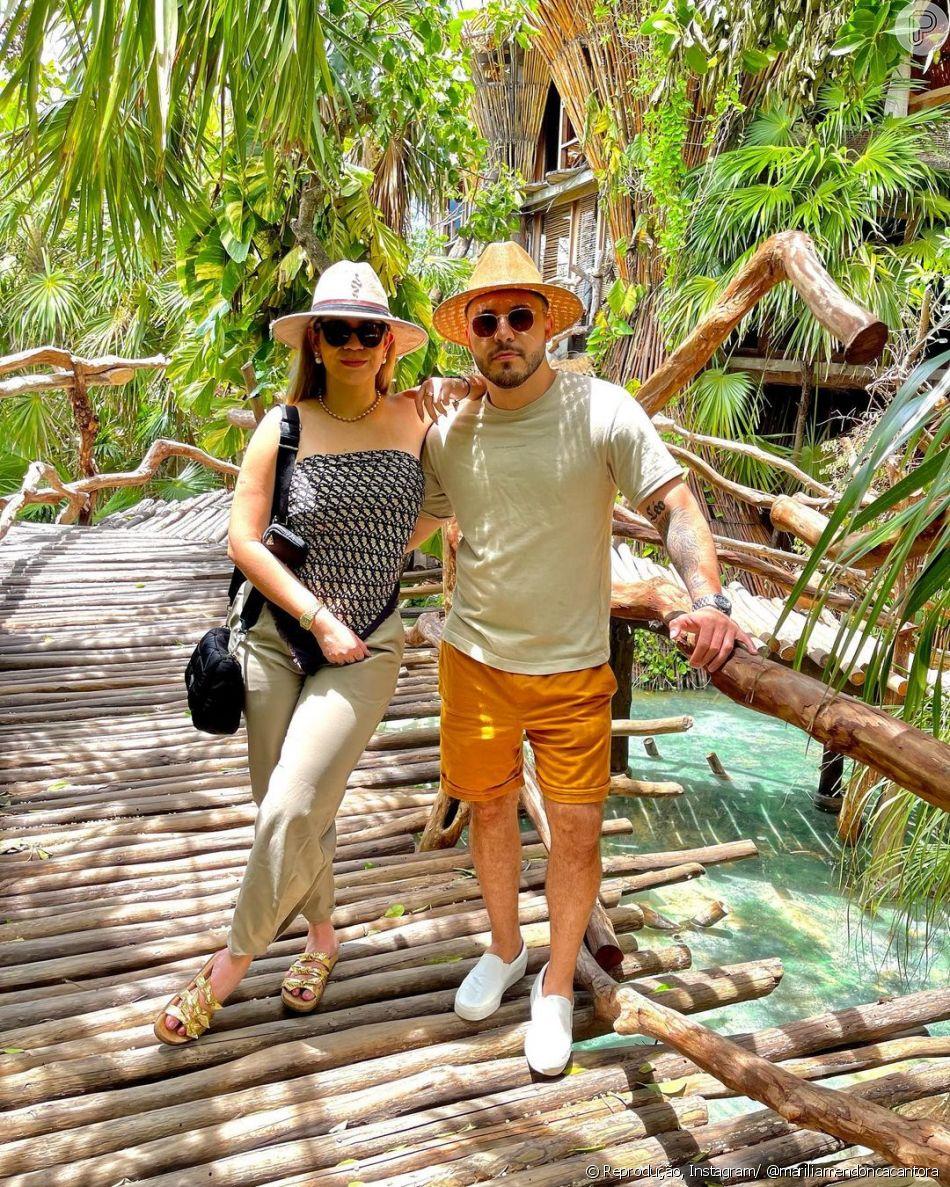 Recentemente, Maríçia e Murilo Huff fieram uma viagem ao México