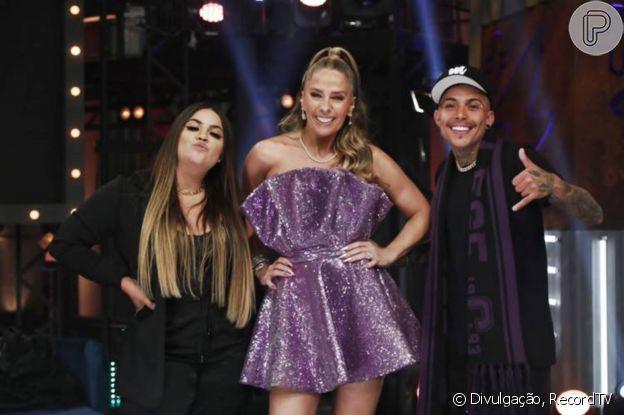 Look lilás em Adriane Galisteu na final de 'Power Couple Brasil'