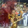 Viviane Araújo durante desfile do Salgueiro no Carnaval 2014