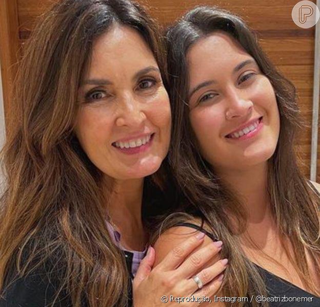 Fátima Bernardes posta foto da filha, Beatriz Bonemer, com novo corte de cabelo e semelhança impressiona web