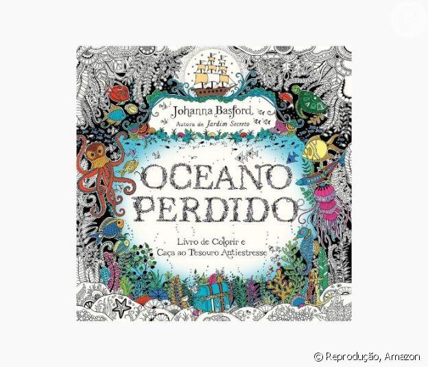 Livro para colorir Oceano perdido