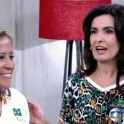 Fátima Bernardes comete gafe com atleta deficiente visual durante o 'Encontro'