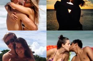 Veja os famosos que, como Fernanda Lima, adoram namorar na praia. Fotos!