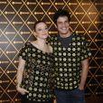 Mateus e Paula posaram para fotos durante o encontro antes do show da Madonna, em dezembro de 2012