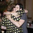 Na reunião, ele encontrou o companheiro de elenco, Thiago Fragoso. Eles vão participar da novela de Walcyr Carrasco, 'Amor à Vida'