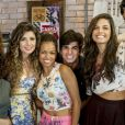 Paula Fernandes se mostrou à vontade com o elenco de 'Malhação Sonhos'