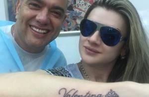 Mirella Santos faz tatuagem com o nome da filha, Valentina, no braço: 'Princesa'