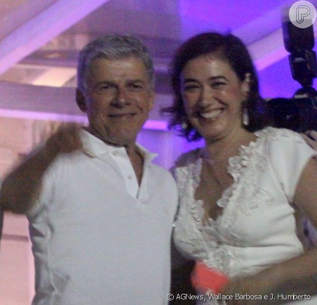 Lilia Cabral e José Mayer passam o Réveillon no Copacabana Palace, em 31 de dezembro de 2014