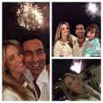 Ticiane Pinheiro postou uma foto no seu Instagram, em que aparece ao lado do namorado, Cesar Tralli, e da filha, Rafaella Justus, em Miami Beach: 'E nosso Réveillon foi assim... Com meus amores, alegria total!!! Feliz ano novo!'