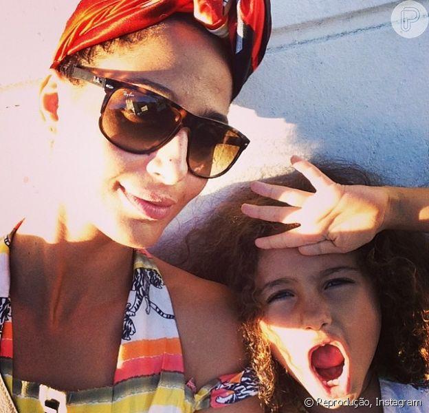 Camila Pitanga contou em entrevista ao programa 'Estrelas' que costuma preparar diariamente o café da manhã de sua filha, Antônia, de 6 anos