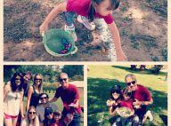 Rafaella Justus caça ovos de Páscoa com toda a família reunida no sítio do pai