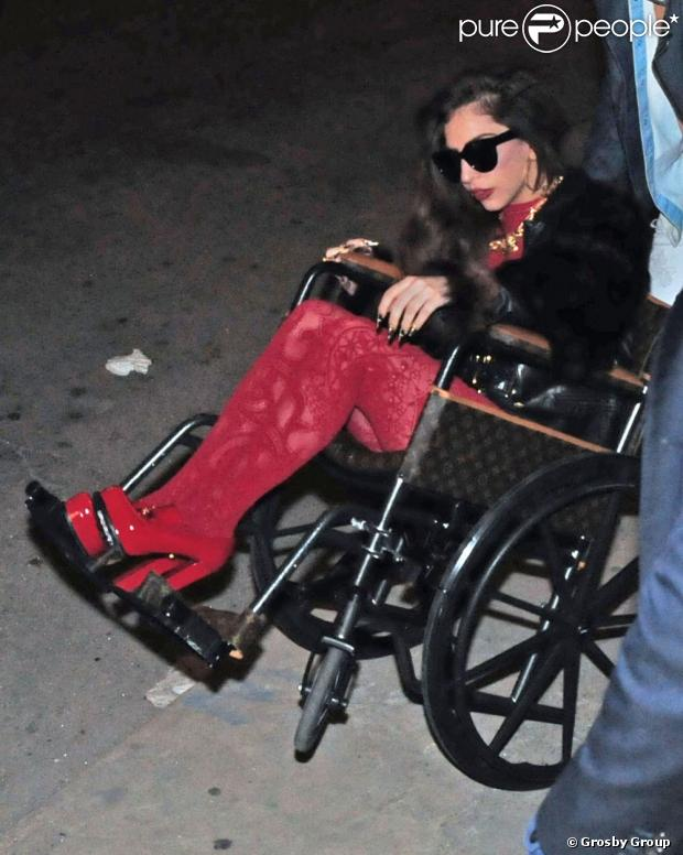 image Paraplegic wearing high heels