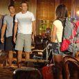 Isabel (Thaíssa Carvalho) vai morar na república comCiro (Max Fercondini),Amadeu (Dudu Azevedo) e Rodrigo (Thiago Martins)