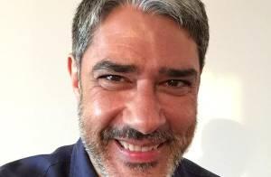William Bonner faz pesquisa com internautas sobre barba e fãs pedem: 'Deixa'