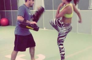 Anitta dá chutes durante treino de muay thai. Confira o vídeo!