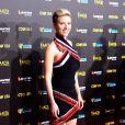 Scarlett Johansson posa em evento de cinema