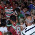 Susana Vieira participa do último ensaio da Grande Rio para o Carnaval 2015 na quadra da agremiação carioca